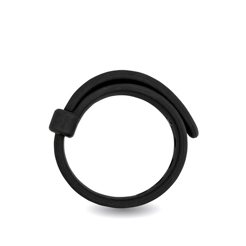 Buy the Rooster Jason Adjustable Silicone in Black Cockring C-Ring erection enhancer enhancing penis ring cock - Velv'Or