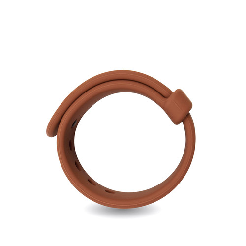 Buy the Rooster Jason Adjustable Silicone in Brown Cockring C-Ring erection enhancer enhancing penis ring cock - Velv'Or