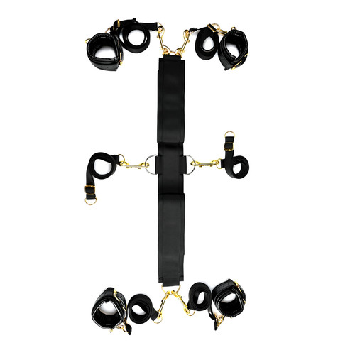 Buy the original SportSheets Special Edition Under The Bed Restraint System Black & Gold