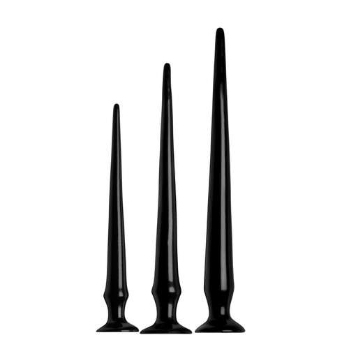 Buy the Slim 3-piece Tapered Anal Hose Dildo Training Set with Suction Cup - XR Brands Hosed