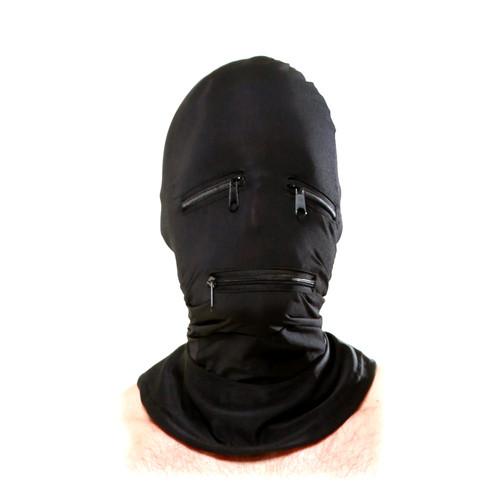 Buy the Fetish Fantasy Series Zipper Face Hood in Black Gimp Mask - Pipedream Toys