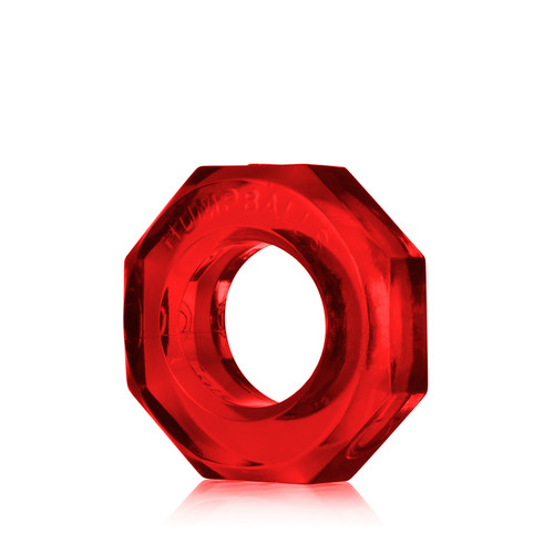 Buy the HumpBalls Soft Stretchy Cockring & Ball Stretcher in Red Clear stackable rings - OxBalls Blue Ox Designs