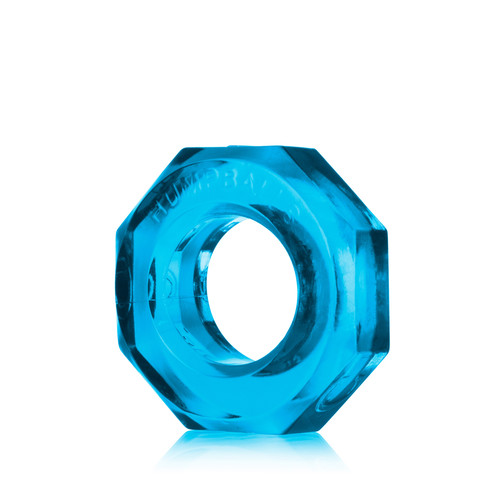 Buy the HumpBalls Soft Stretchy Cockring & Ball Stretcher in Blue Clear stackable rings - OxBalls Blue Ox Designs
