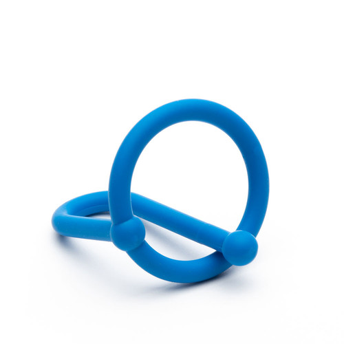 Buy the Cum Stopper 2.0 Silicone Glans Ring with Flexible Penis Plug in Blue - Sport Fucker