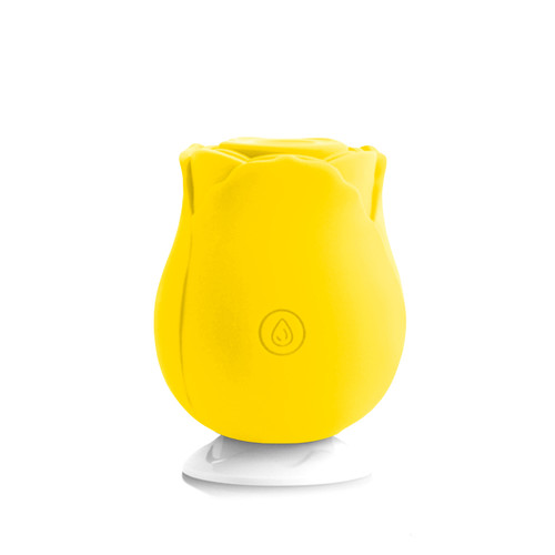 Buy the Sucking Yellow Rose 10-function Rechargeable Silicone Flower-shaped Suction Vibrator - Dallas Novelty
