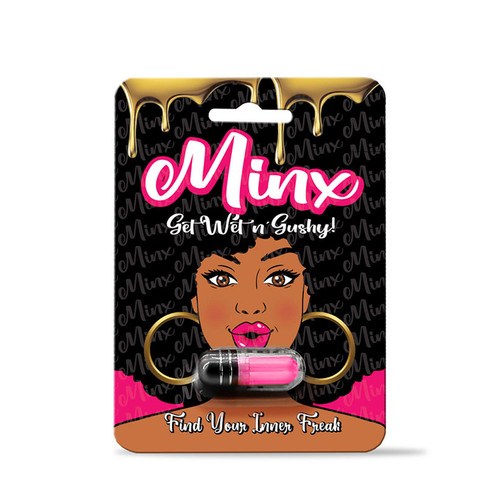 Buy the Minx Female Intimate Enhancer Supplement 1 3500mg Capsule Sexual enhancement pill get wet - SOS Distribution