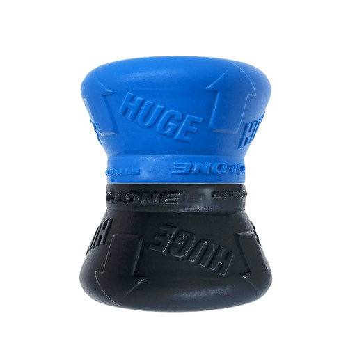 Buy the Clone Duo Huge Big Balls Double Stack Cone Silicone Ball Stretcher Set in Pool Blue & Black - OxBalls Blue Ox Designs