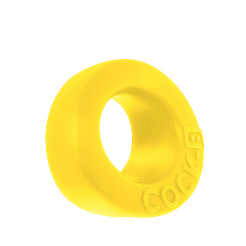 Buy the Cock-B Bulge Liquid Platinum Silicone Padded Cockring in Fly Yellow - OXBALLS