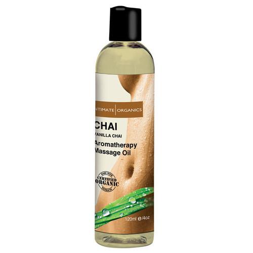 Intimate Organics Aromatherapy Massage Oil Vanilla Chai 4 oz