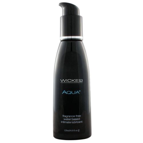 Wicked Sensual Care Aqua Fragrance-Free Water-based Lubricant 4 oz