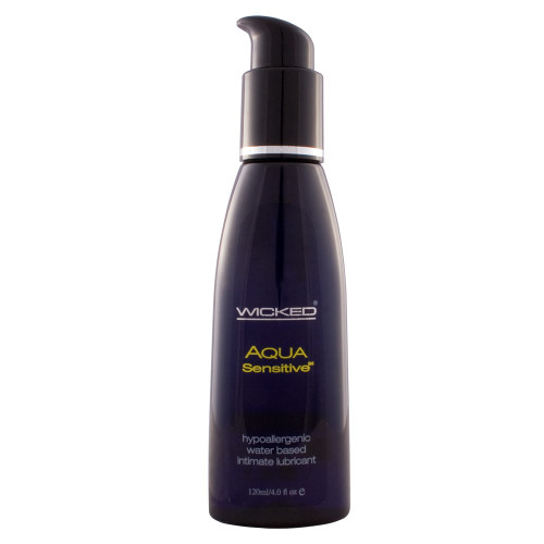 Buy the Aqua Sensitive Fragrance-Free Water-based Lubricant 4 oz - Wicked Sensual Care