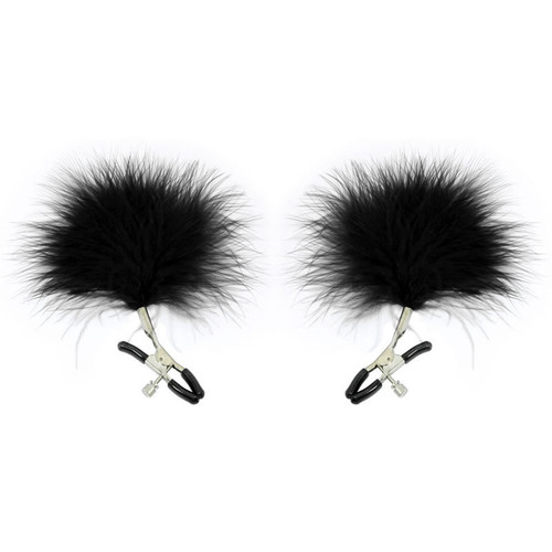 Buy the Sex & Mischief Series Feathered Nipple Clamps - Sportsheets