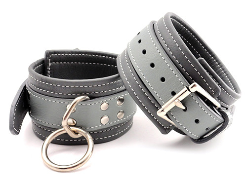 50 Shades of Inspiration Grey Leather Cuffs