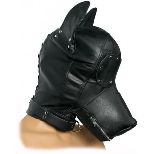 Strict Leather Ultimate Leather Dog Hood Black