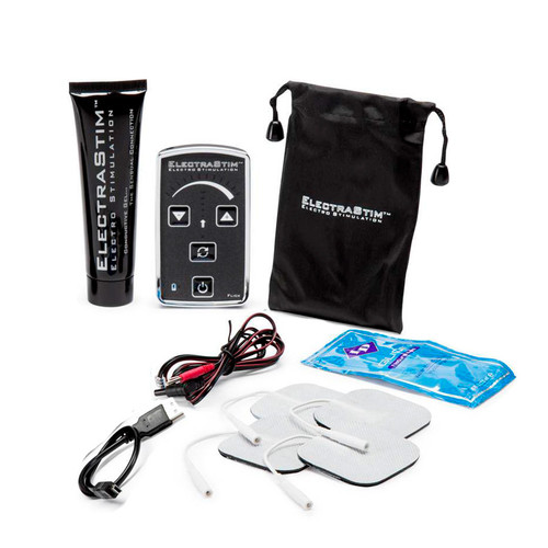 Buy the Flick EM60-E Rechargeable Single Channel Electro Stimulation Pack Electrosex Estim Pack - ElectraStim