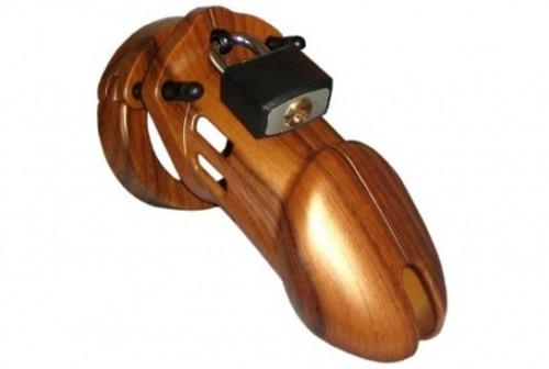 CB-X CB-6000 Male Chastity Device Designer Series Woodgrain