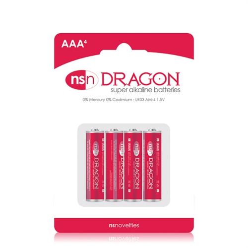 NS Novelties Dragon Super Alkaline AAA Battery 4 Pack
