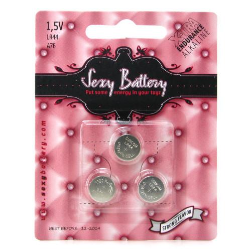 Sexy Battery LR44 Button Alkaline Batteries 3 Pack