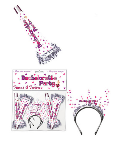 Bachelorette Party Tiaras And Tooters 8 Pack