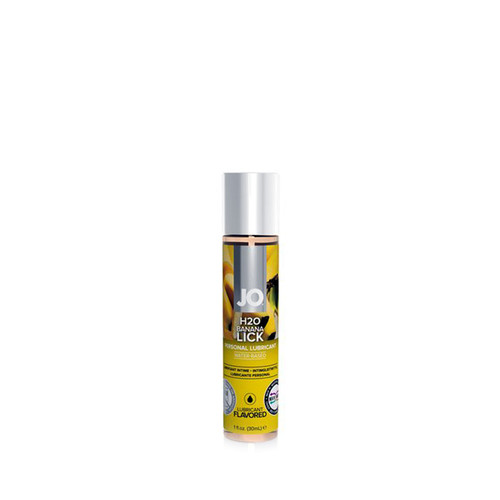 Buy the H2O Banana Lick Flavored Water-based Personal Lubricant 4 oz - System JO
