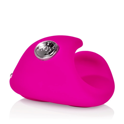 KEY by Jopen Pyxis 5-function Silicone Rechargeable Finger Massager Raspberry Pink