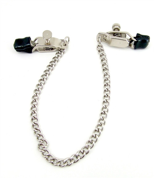 H2H Criss Cross Nipple Clamps with Chain Chrome