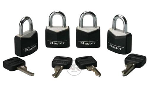 Master Lock Steel Padlock 4 pack