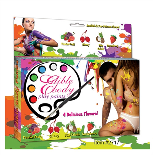Hott Products Edible Body Play Paints
