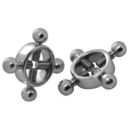 Master Series Stainless Steel Rings of Fire Nipple Press Set