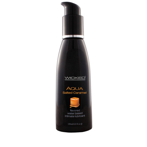 Wicked Sensual Care Aqua Salted Caramel Flavored Water-based Lubricant 4 oz