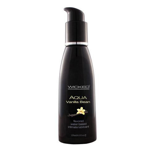 Wicked Sensual Care Aqua Vanilla Bean Flavored Water-based Lubricant 4 oz