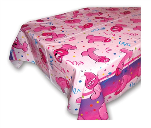 Bachelorette Party Pecker Tablecover Pink
