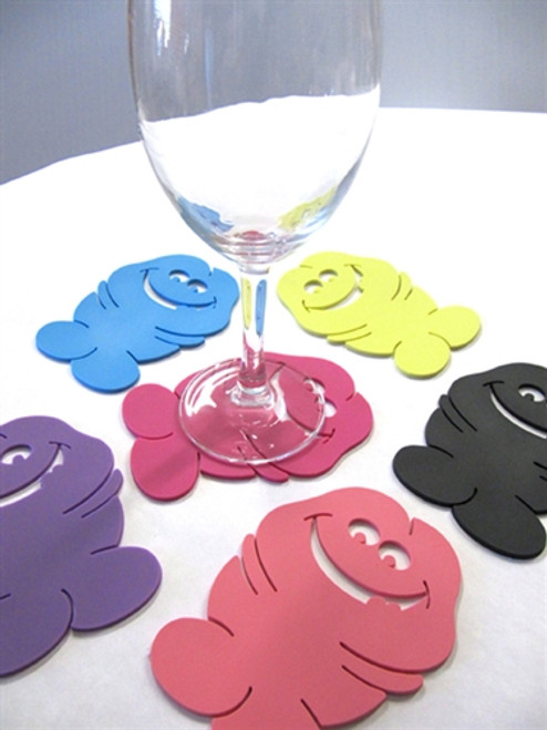 Bachelorette Party Pecker Coasters Pink