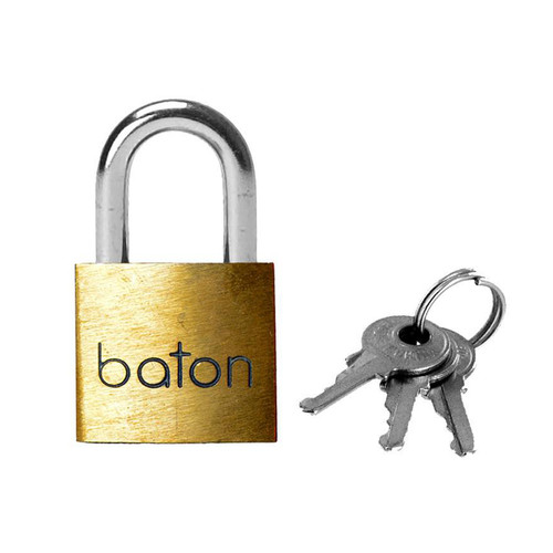 Buy the Spartacus 40mm Brass Padlock with 2 Keys