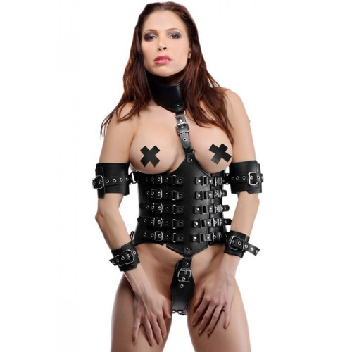 Strict Leather Ultimate Lockdown Female Waist Cincher