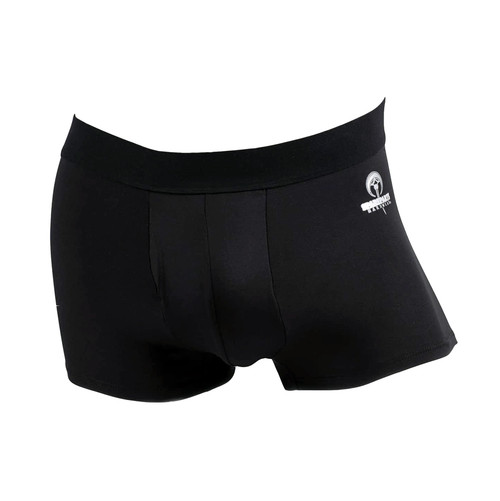 Buy the Pete Trunks Packer Boxer Briefs UnderWear in Black FtM Trans STP Soft Packing - SpareParts Hardwear