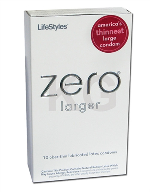 LifeStyles ZERO Uber-Thin Larger Condoms 10 Pack