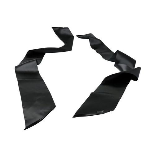 Buy the Sex & Mischief Black Silk Sash Restraints Bondage BDSM Cuffs Blindfold - Sportsheets Inc