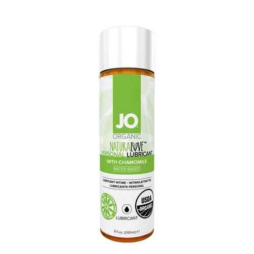 Buy the Organic Naturalove with Chamomile USDA Certified Water-based Lubricant in 8 oz - System JO
