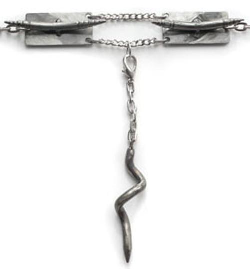 Sex and Metal Crescent BDSM Collar Choker Silver