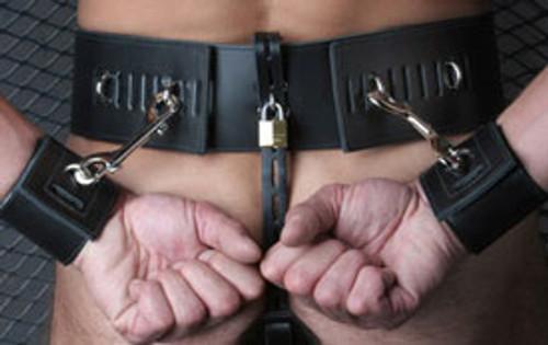 StockRoom Leather Prisoner Belt Black Small/Medium