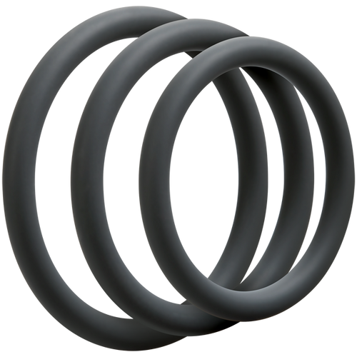 OptiMALE Thin 3 C-Ring Set Silicone Slate