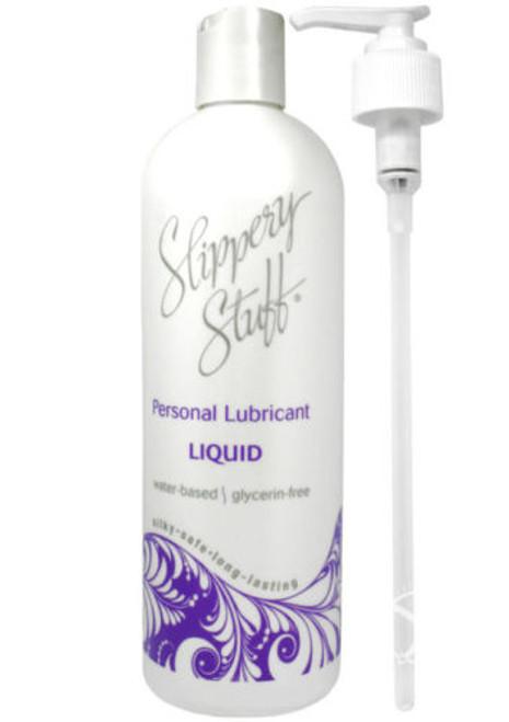 Slippery Stuff Water-based Liquid Lubricant 16 oz Pump Bottle
