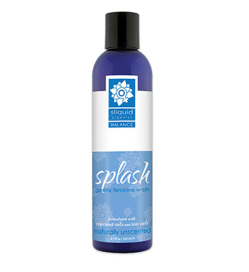 Buy the Balance Splash Gentle Feminine Wash Naturally Unscented 8.5 oz - Sliquid Lubricants