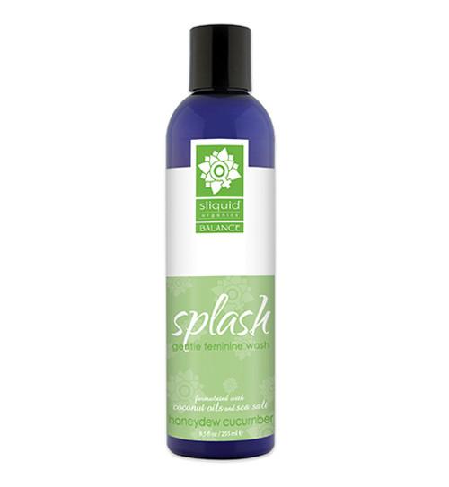 Sliquid Organics Balance Splash Gentle Feminine Wash Honeydew Cucumber 8.5 oz
