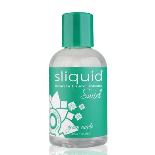 Sliquid Naturals Swirl Flavored Water-based Lubricant Green Apple 4.2 oz
