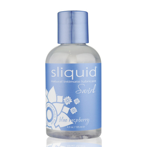 Sliquid Naturals Swirl Flavored Water-based Lubricant Blue Raspberry 4.2 oz