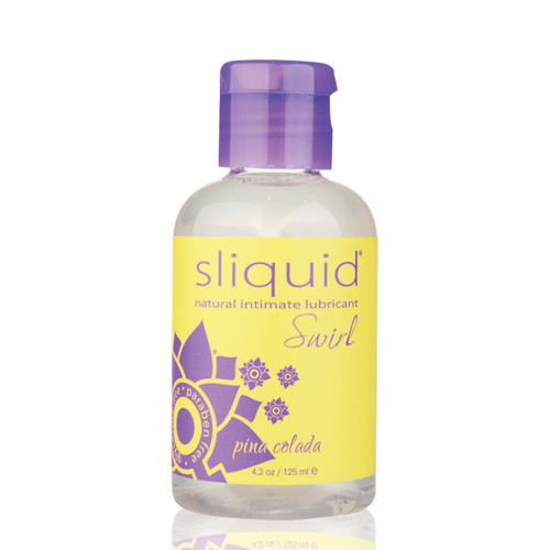 Sliquid Naturals Swirl Flavored Water-based Lubricant Pina Colada 4.2 oz