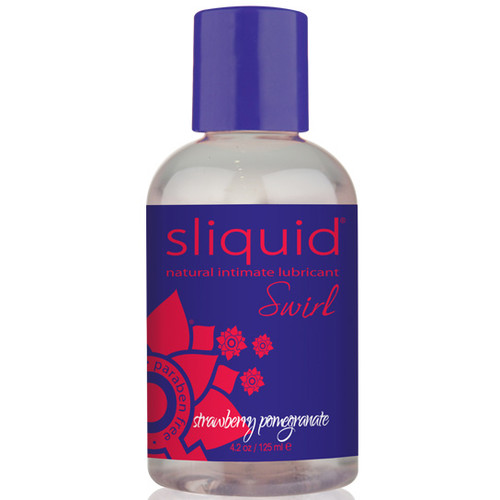 Sliquid Naturals Swirl Flavored Water-based Lubricant Strawberry Pomegranate 4.2 oz