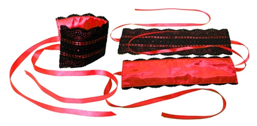 Sportsheets Satin and Lace Lover's Kit Red